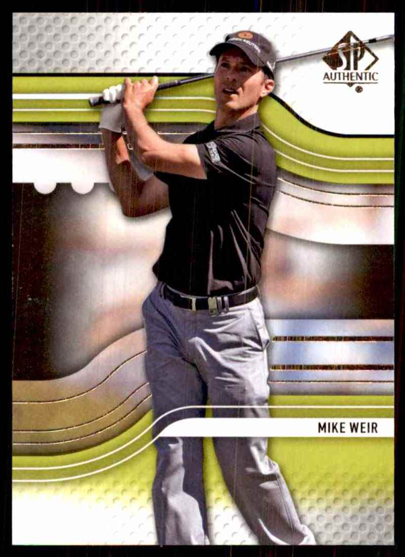 2012 SP Authentic Mike Weir #14 card front image