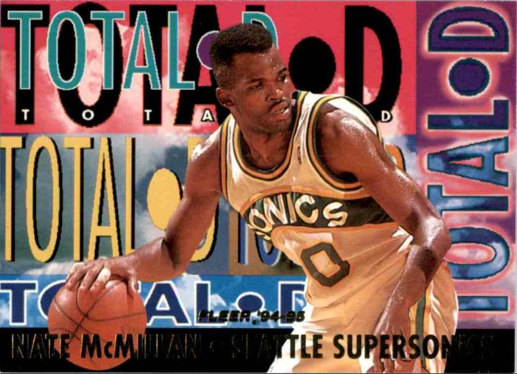 1994-95 Fleer Total D Nate McMillan #2 card front image