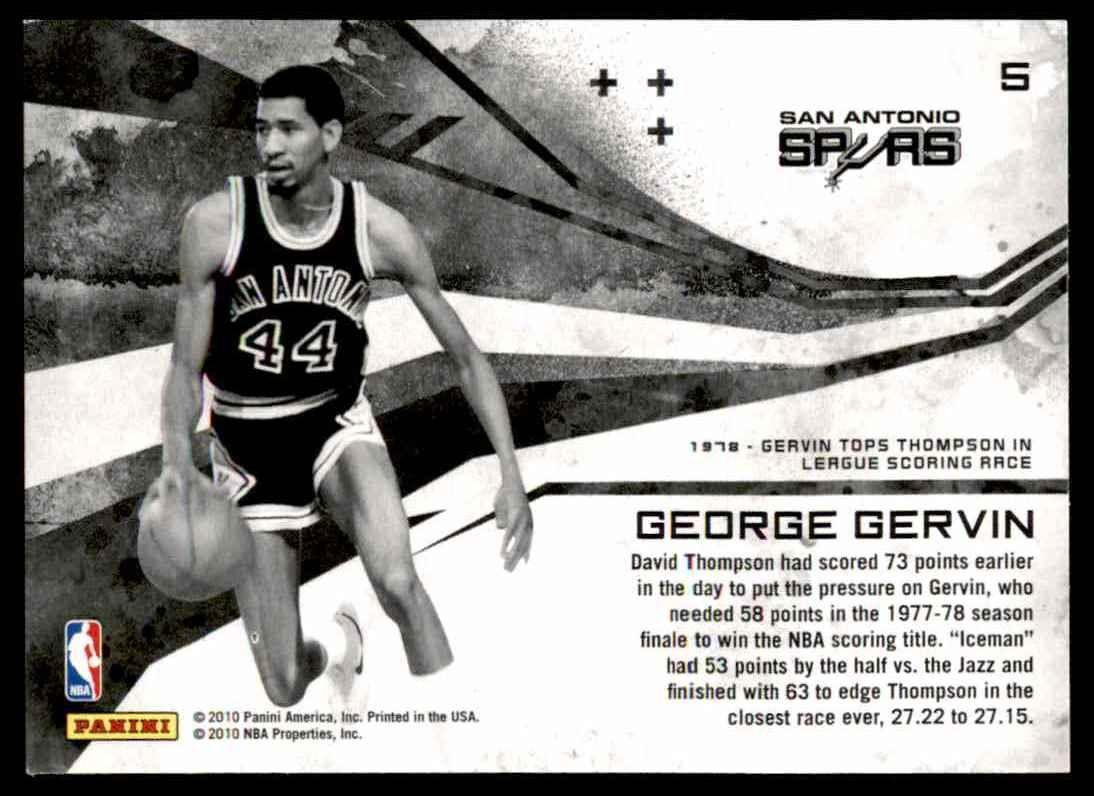 2010-11 Rookies & Stars George Gervin #5 card back image