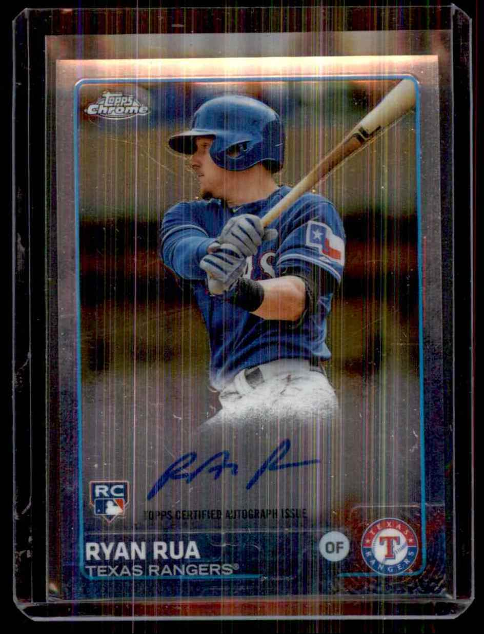 2015 Topps Chrome Rookie Autographs Ryan Rua #ARRR card front image