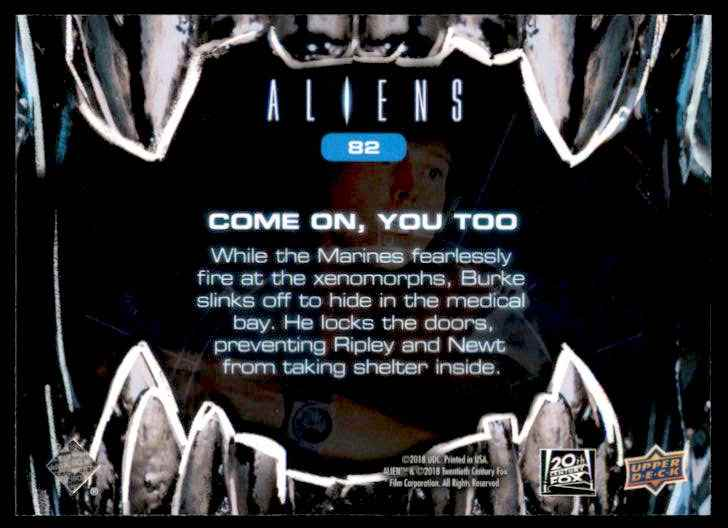2018 Aliens Come On You Too #82 card back image