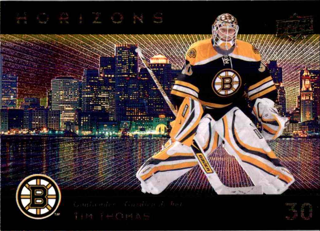 2009-10 Mcdonald's Upper Deck Horizons Tim Thomas #H1 card front image