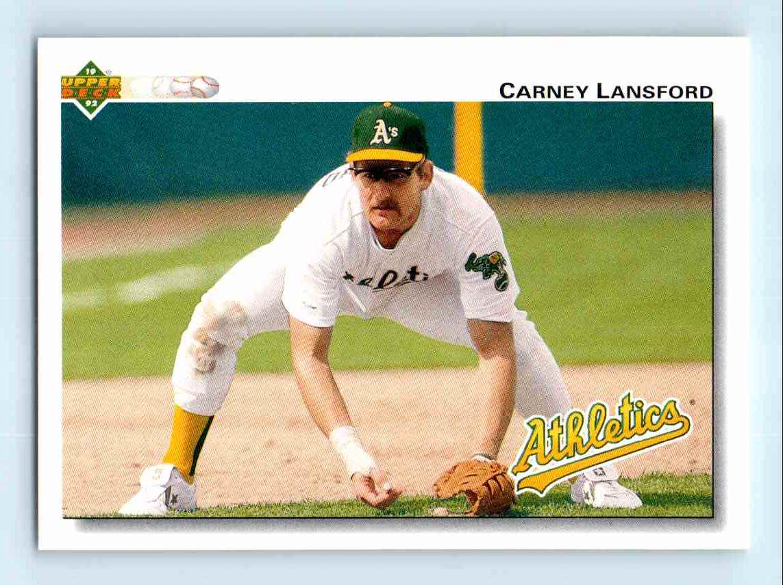 19 Thoughts Carney Lansford 1992 Upper Deck