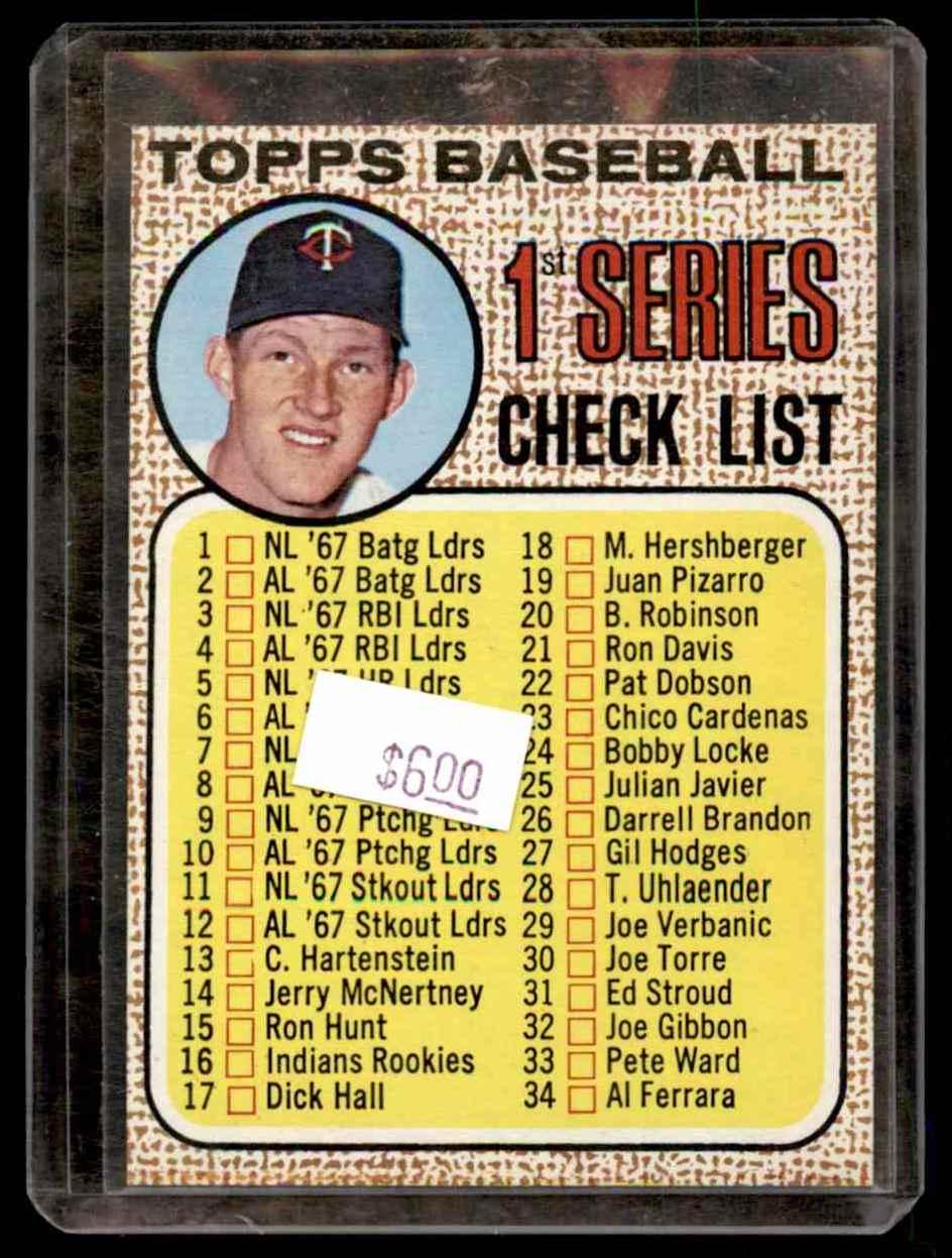 1968 Topps Jim Kaat #67 card front image