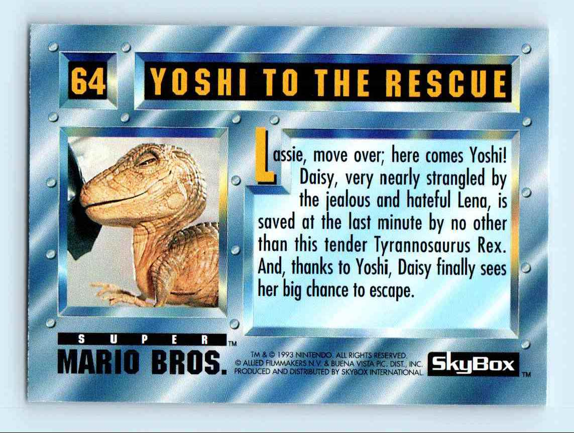 1993 Skybox Super Mario Bros Yoshi To The Rescue 64 On Kronozio