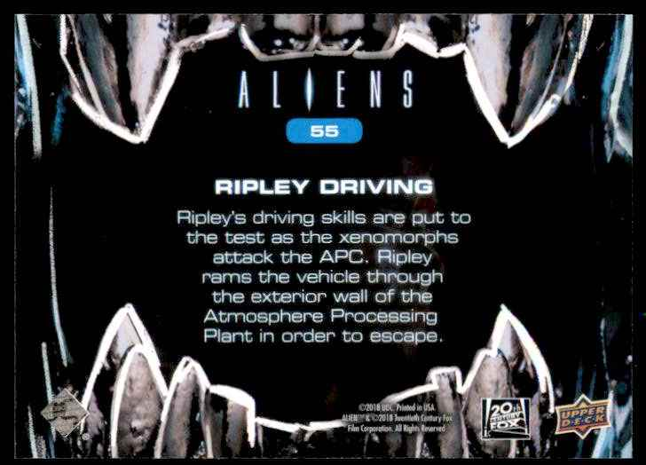 2018 Aliens Ripley Driving #55 card back image