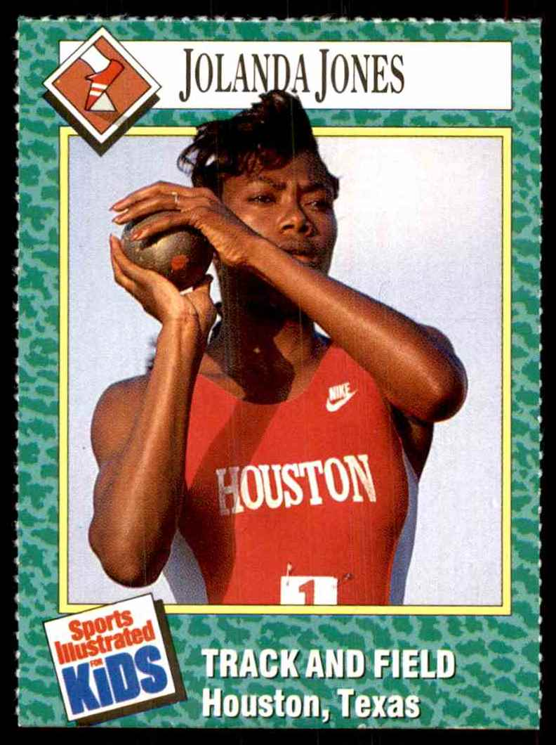 1990-91 Sports Illustrated For Kids Jolanda Jones/Track And Field #170 card front image