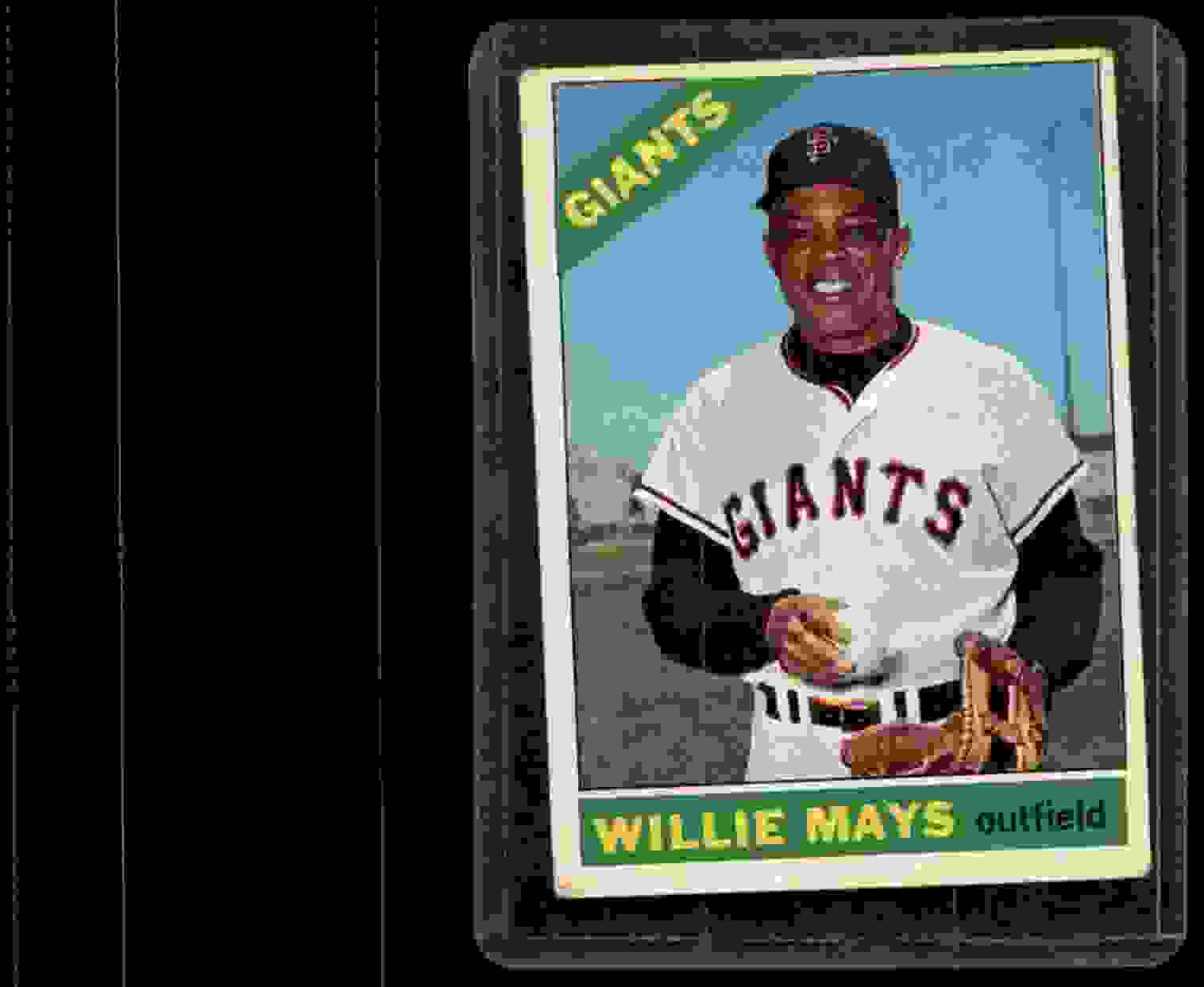 1966 Topps Willie Mays #1 card front image