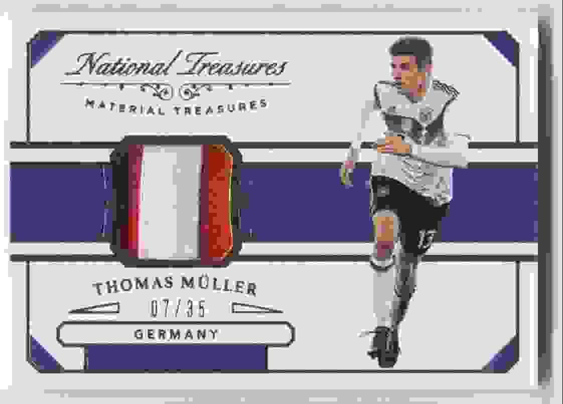 2018 Panini National Treasures Material Treasures Bronze Thomas Muller #MT-TM card front image