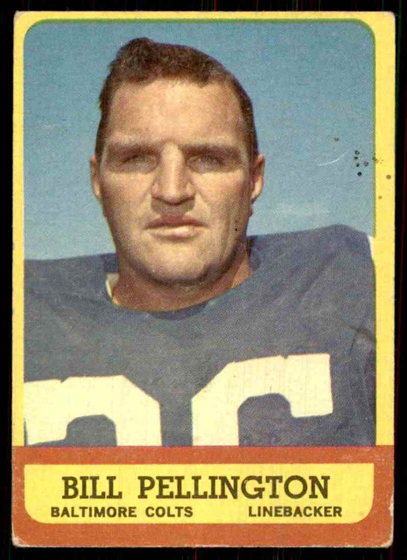 1963 Topps Bill Pellington #10 card front image