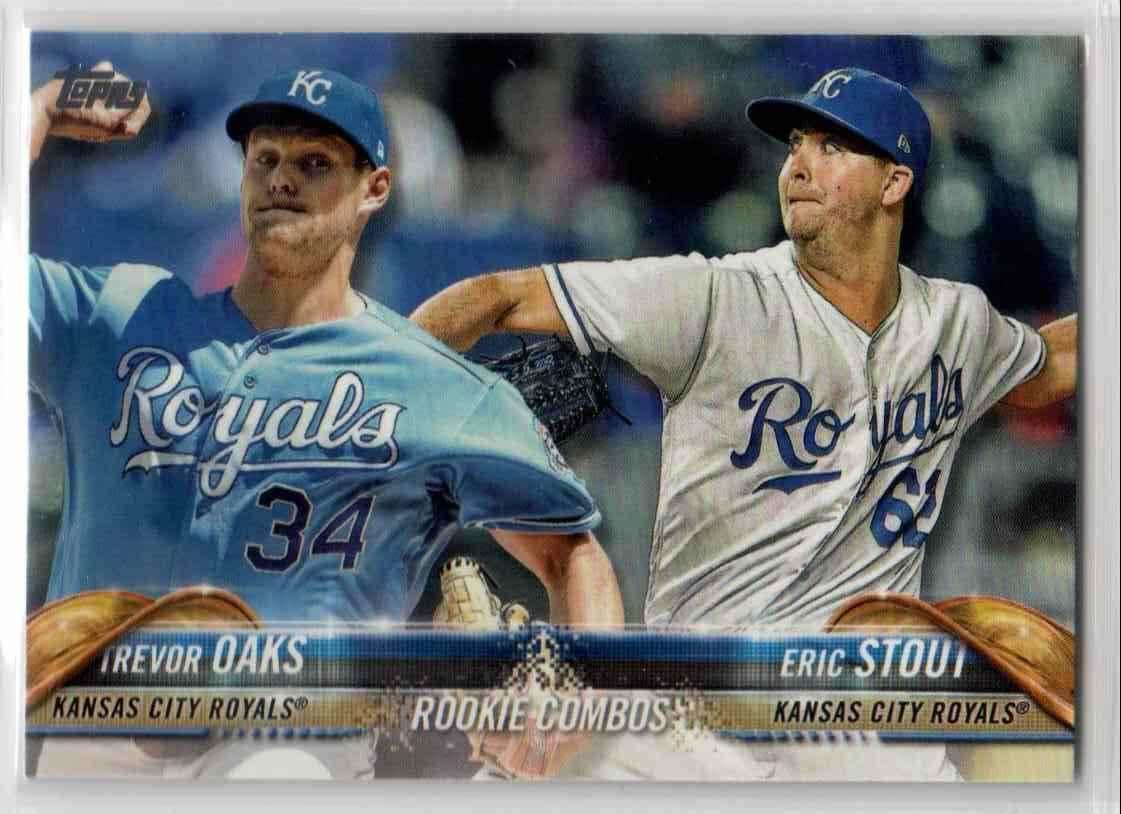 2018 Topps Update Trevor Oaks / Eric Stout #US56 card front image