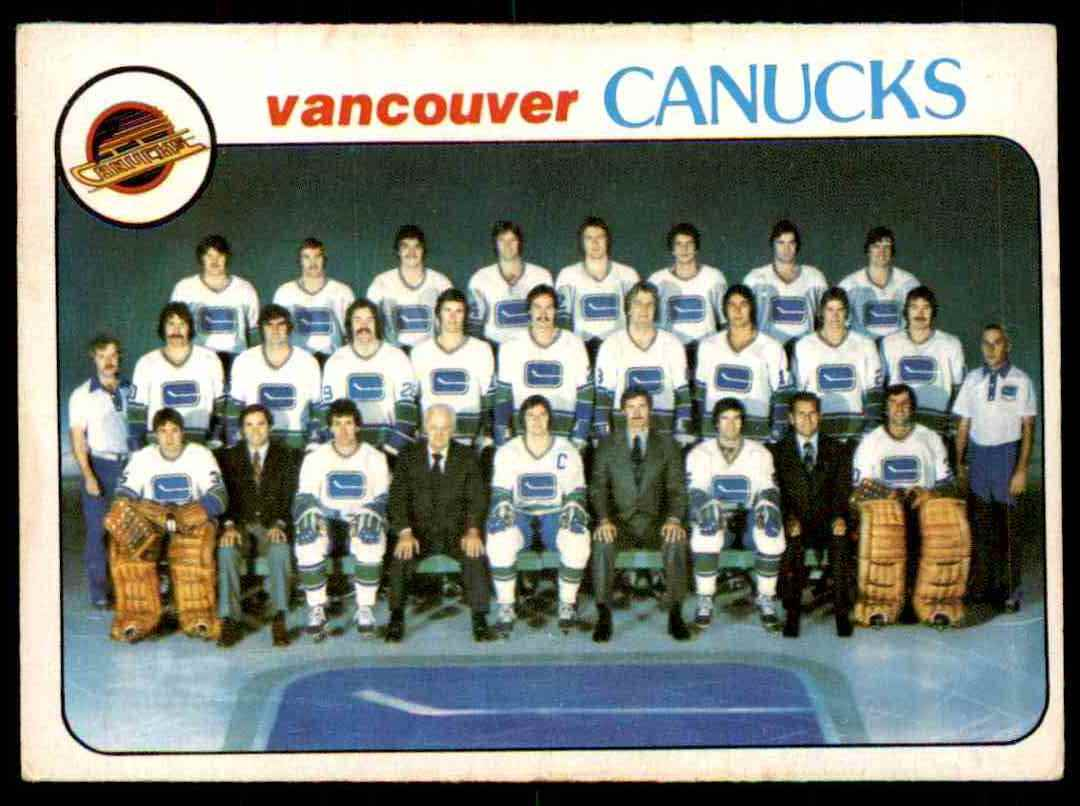 1978-79 O-Pee-Chee Vancouver Canucks Checklist #207 card front image