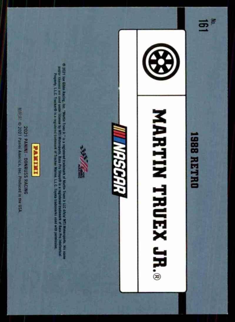 2021 Donruss Martin Truex JR. Retro #161 card back image