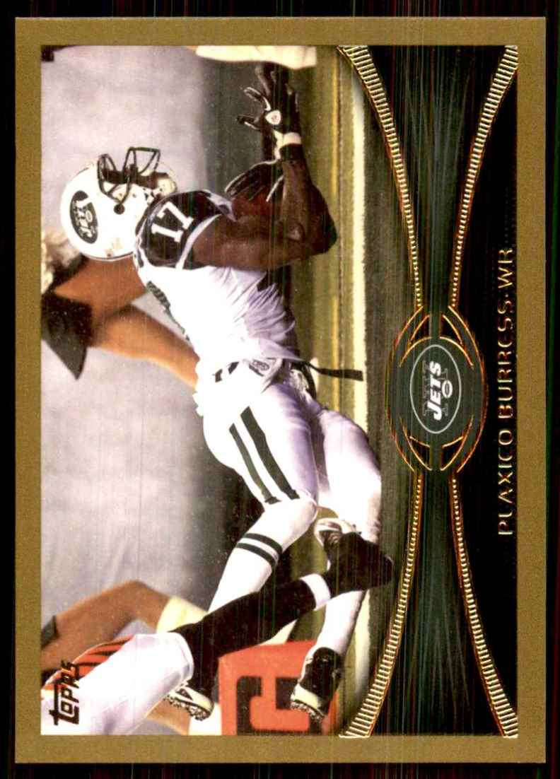 2012 Topps Gold Plaxico Burress #207 card front image