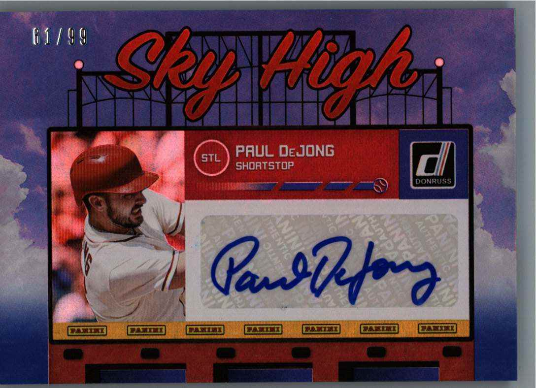 2020 Panini Donruss Sky High Dejohn, Paul #SHS-PD card front image