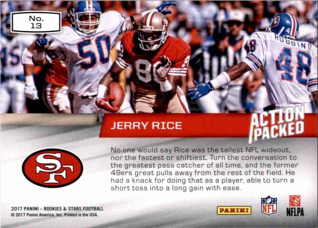 2017 Rookies And Stars Action Packed Jerry Rice 13 On Kronozio