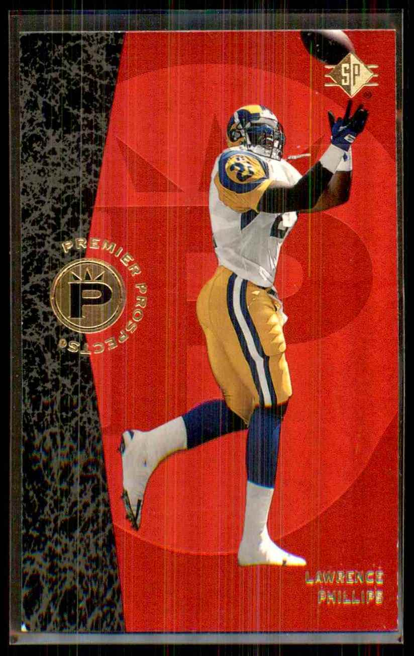 1996 SP Lawrence Phillips RC #9 card front image