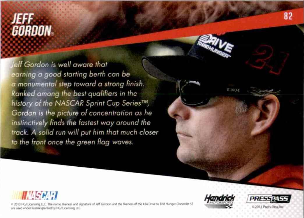 2014 Press Pass Jeff Gordon #82 card back image