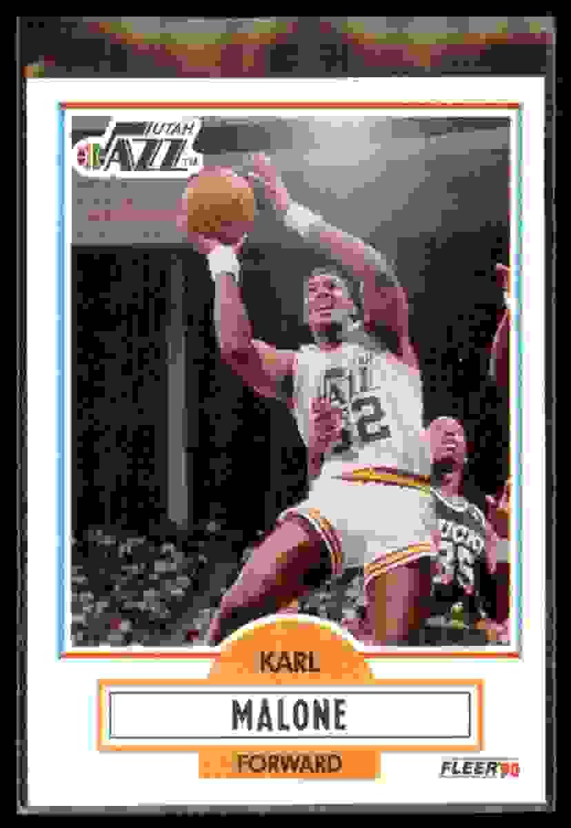 1990-91 Fleer Karl Malone #188 card front image