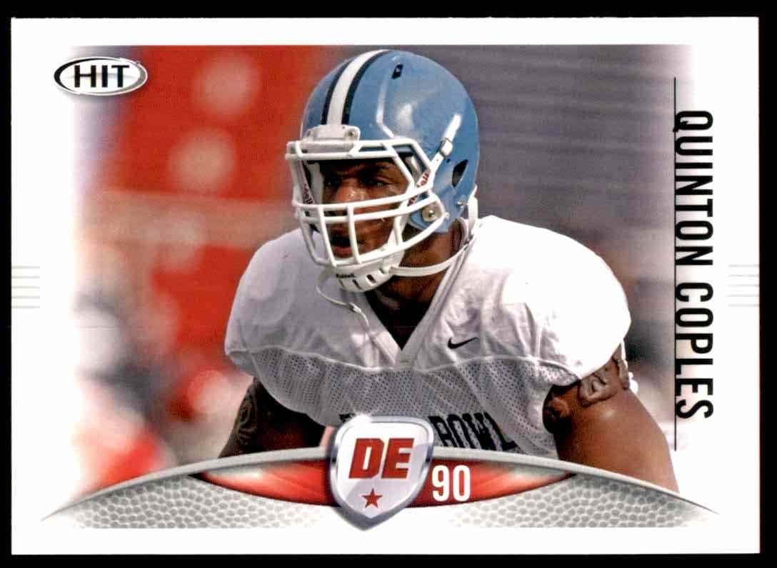 2012 Sage Hit Quinton Coples #43 card front image