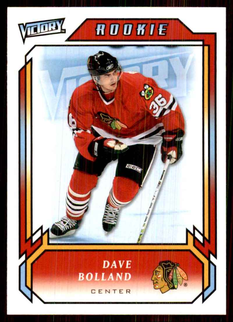 2006-07 Upper Deck Victory Dave Bolland RC #318 card front image