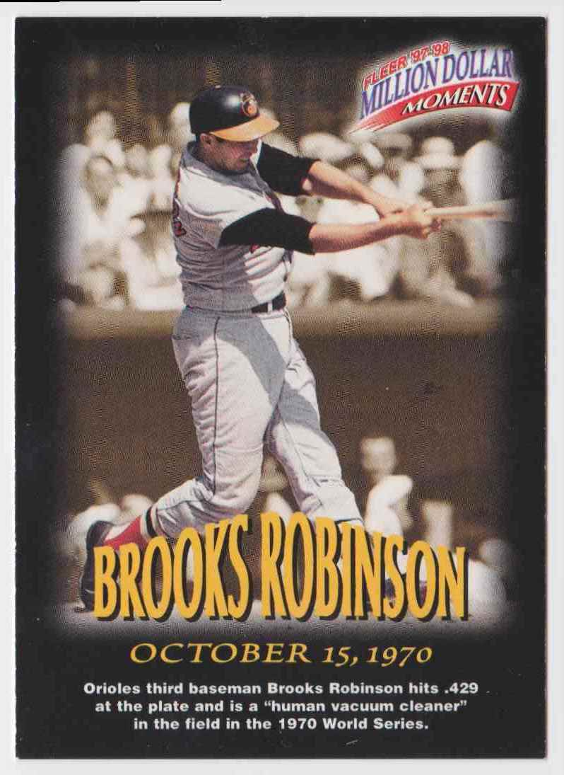1997 Fleer Million Dollar Moments Brooks Robinson #5 card front image