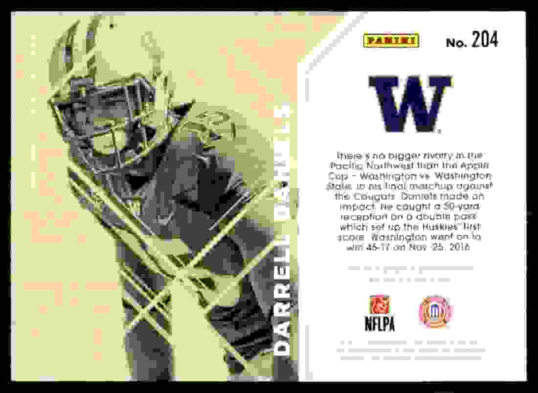 2017 Elite Darrell Daniels card back image