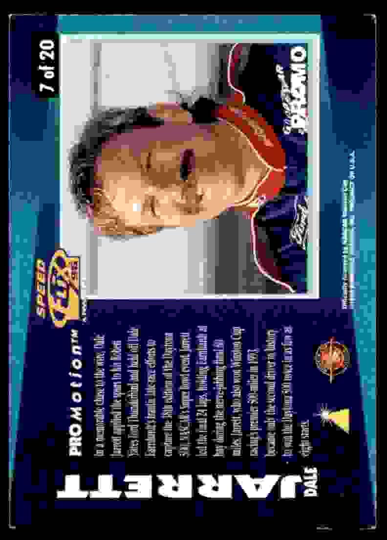 1996 Speedflix Promotion Promo Dale Jarrett #7 card back image