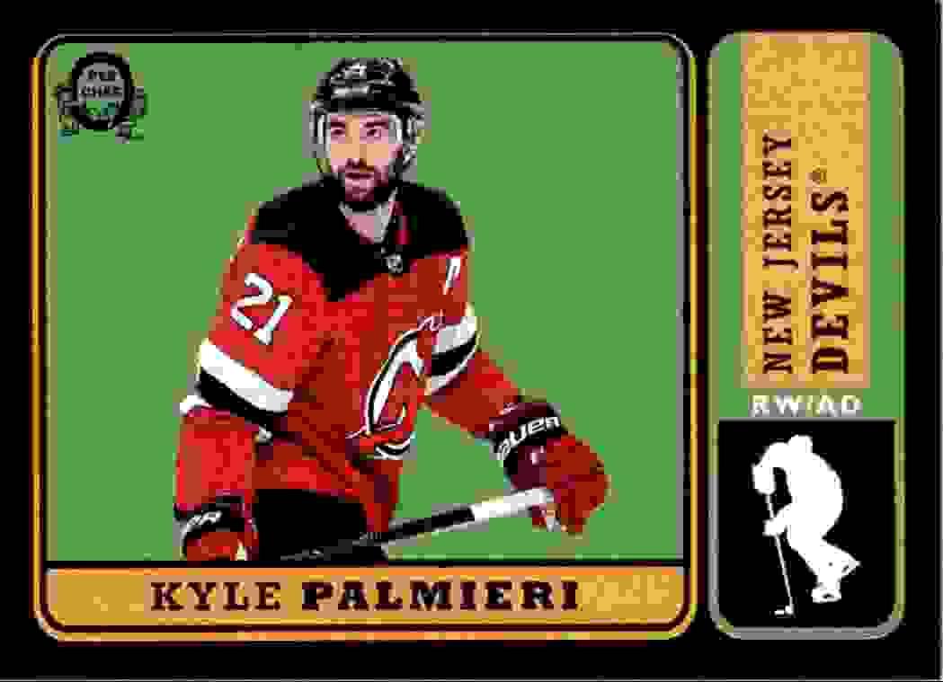 2018-19 O-Pee-Chee Retro Black Kyle Palmieri #60 card front image
