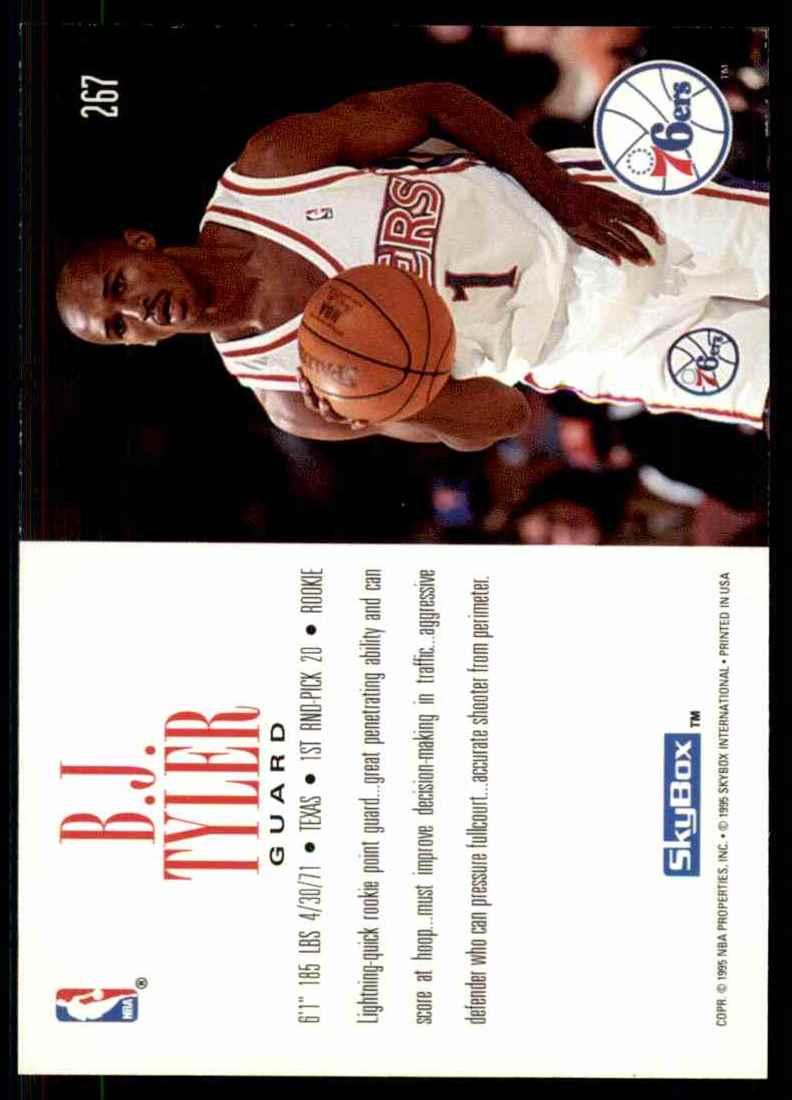 1994-95 Skybox Premium B.J. Tyler RC #267 card back image