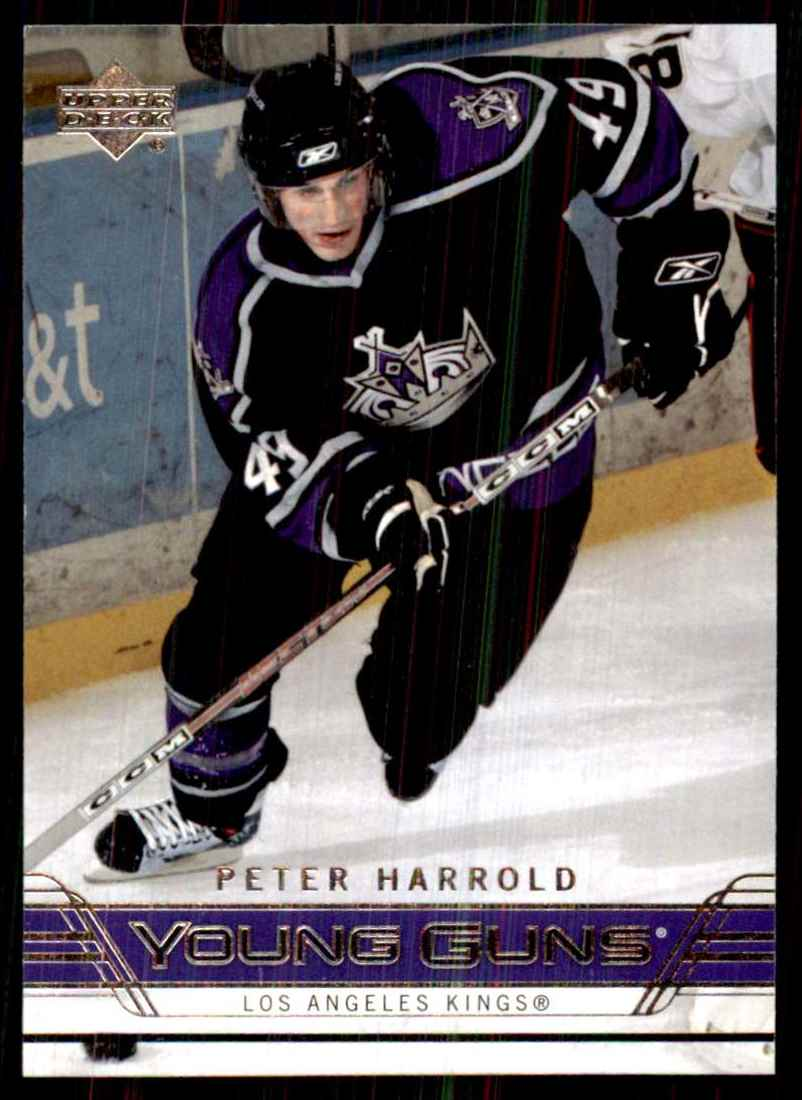 2006-07 Upper Deck Peter Harrold Yg RC #472 card front image