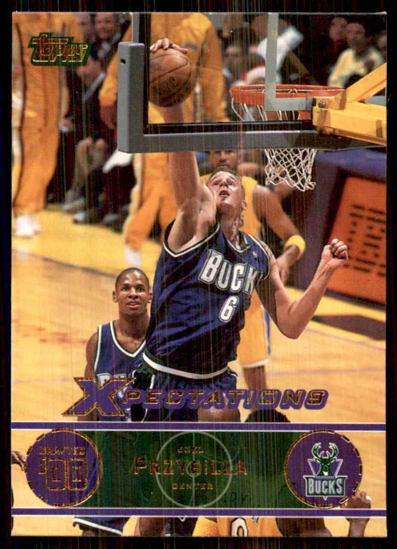 2001-02 Topps Xpectations Joel Przybilla #58 card front image