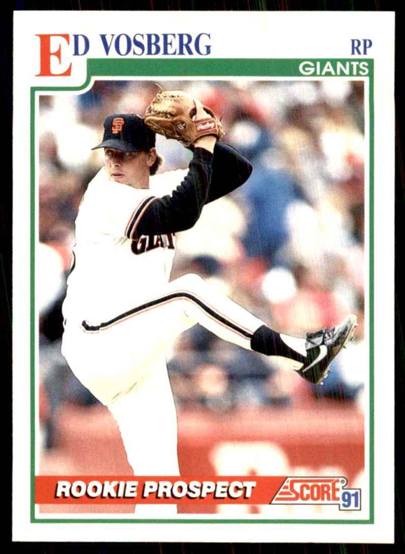 1991 Score Ed Vosberg RC #757 card front image
