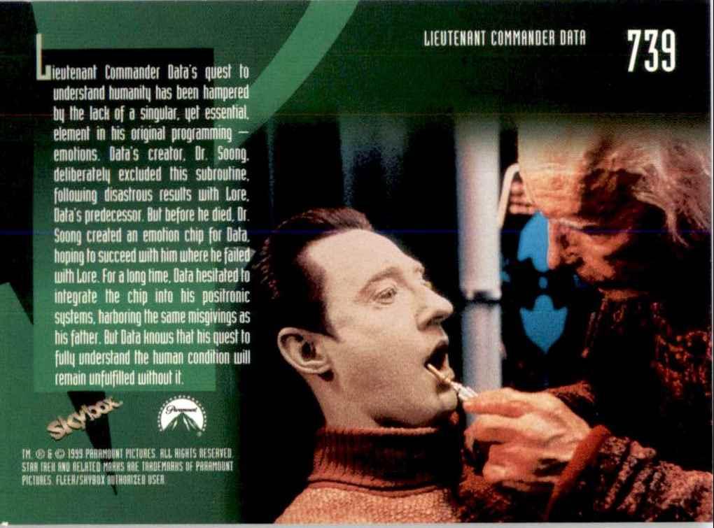 1994 Star Trek The Next Generation Episode Collection Emotion Chip #739 card back image