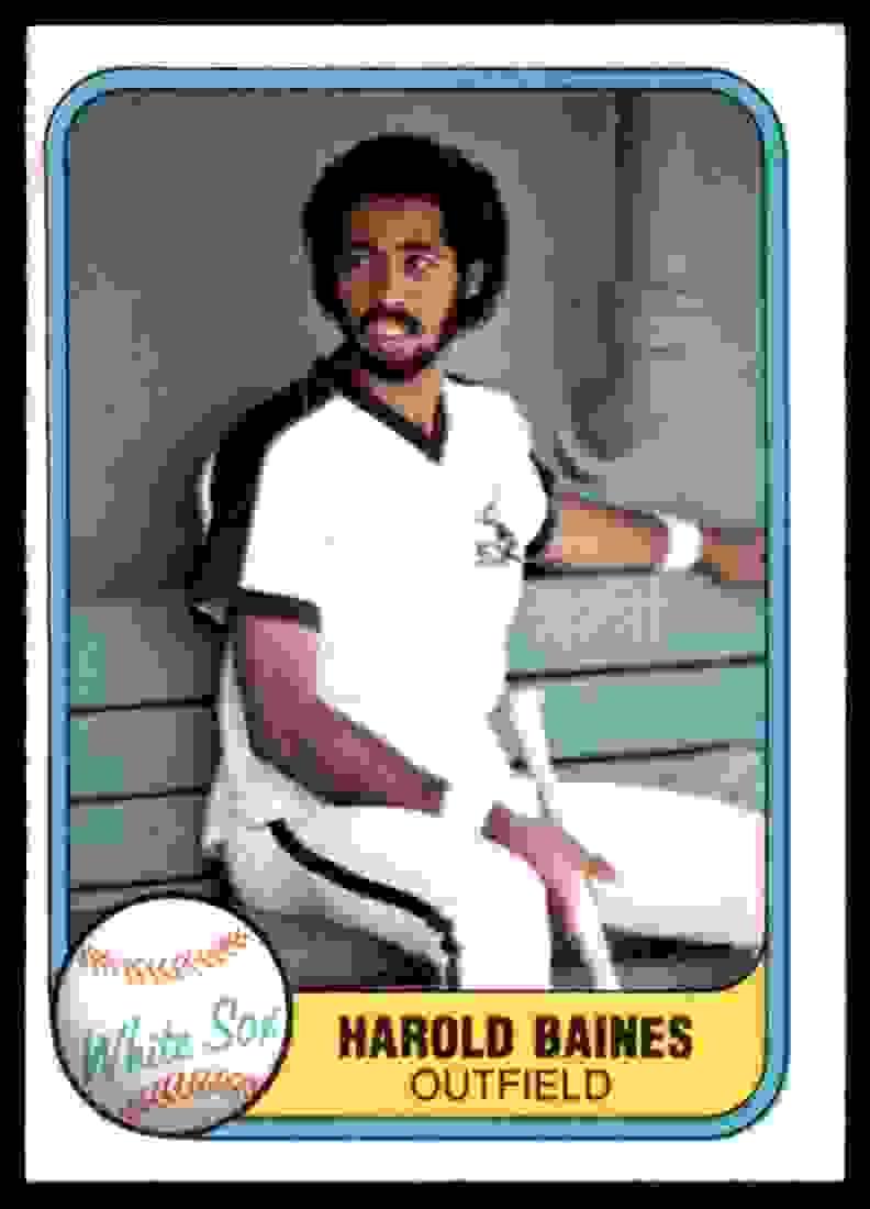 1981 Fleer Harold Baines #346 card front image