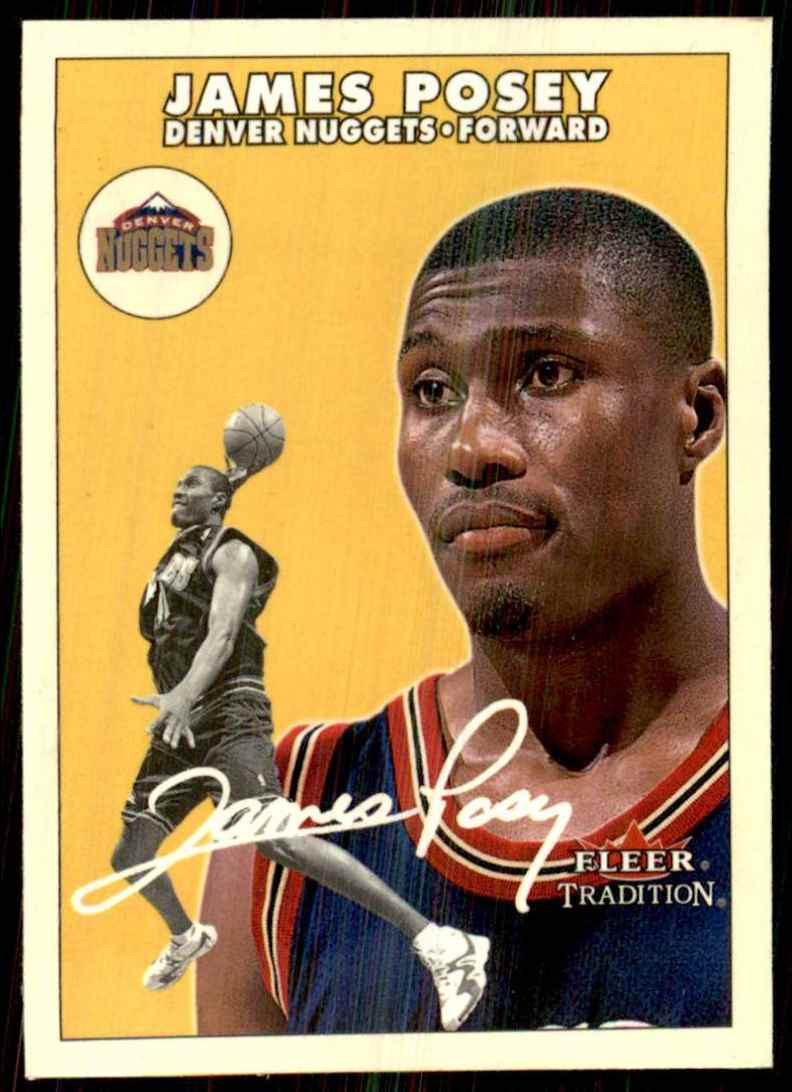 2000-01 Fleer Glossy James Posey #72 card front image