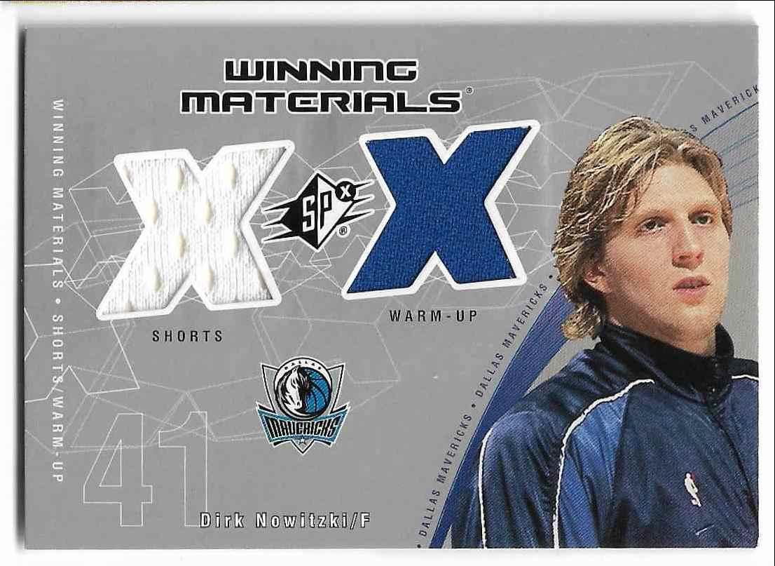 2002-03 Upper Deck SPx Dirk Nowitzki #DN-W card front image