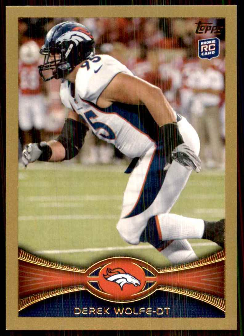 2012 Topps Gold Derek Wolfe #419 card front image