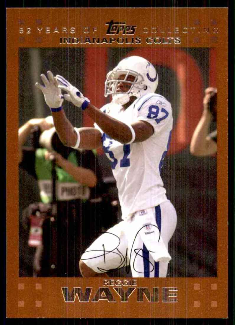 2007 Topps Copper Reggie Wayne #148 card front image