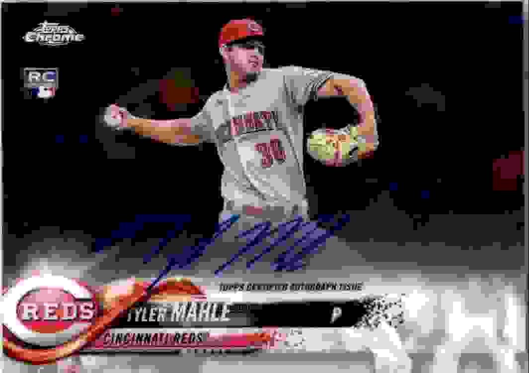 2018 Topps Chrome Base Autograph Tyler Mahle #RA-TM card front image