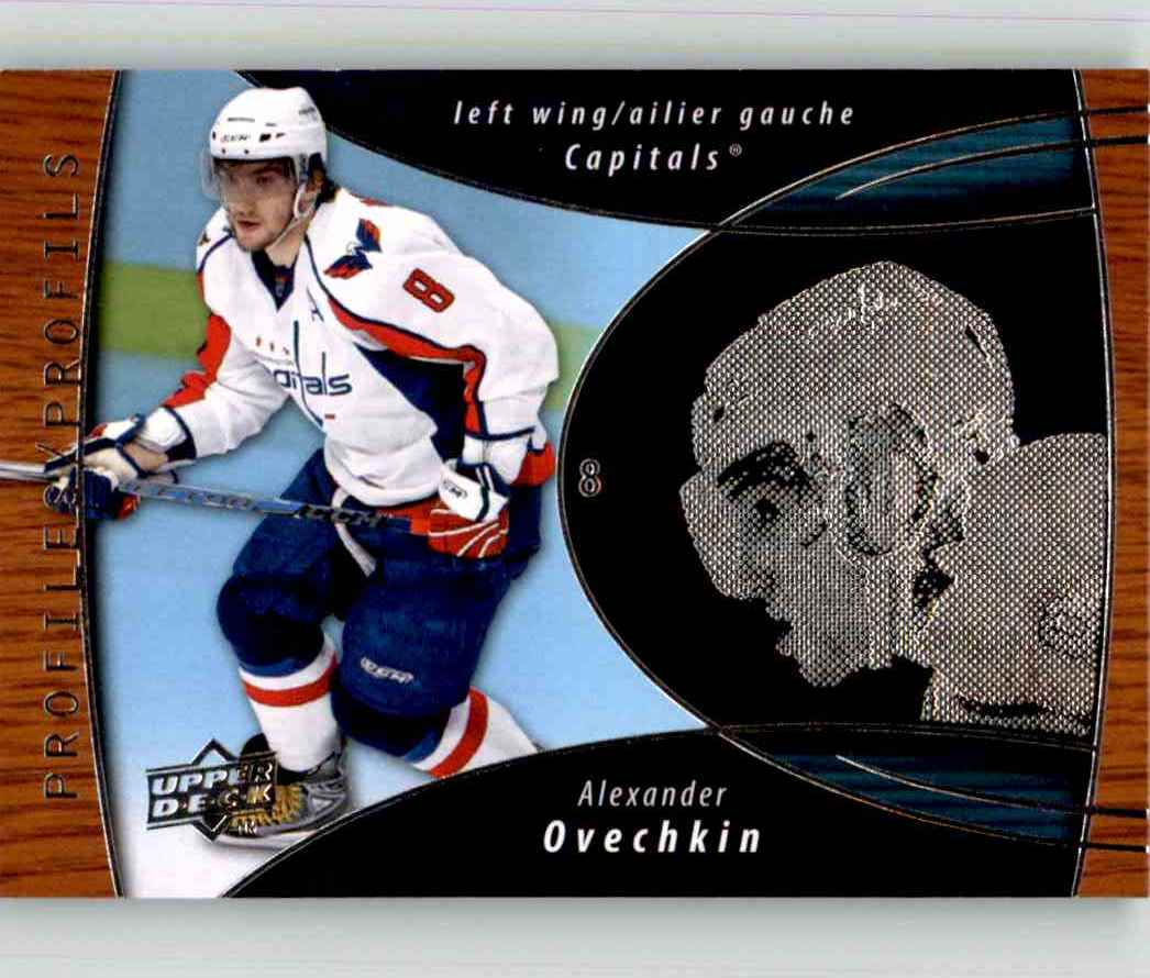 2008-09 Upper Deck McDonald's Profiles Alexander Ovechkin #PRO8 card front image