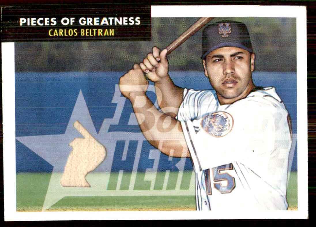 2007 Bowman Heritage Pieces Of Greatness Carlos Beltran Bat B #CBE card front image