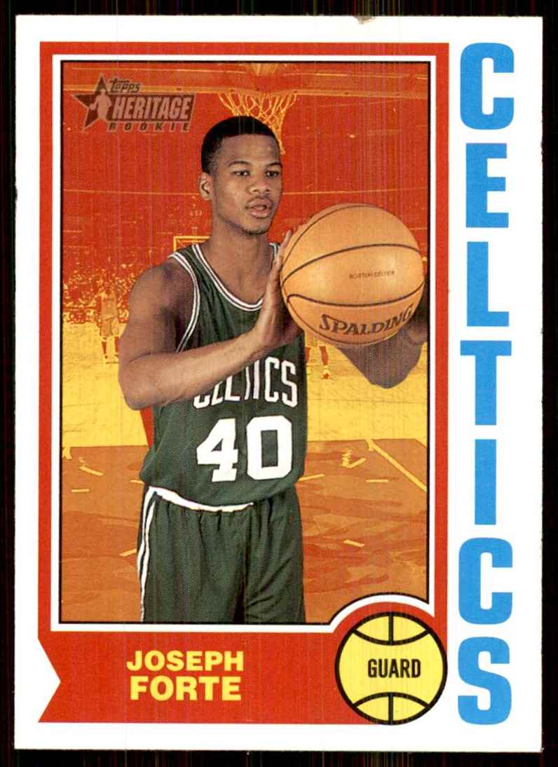 2001-02 Topps Heritage Joseph Forte RC #243 card front image