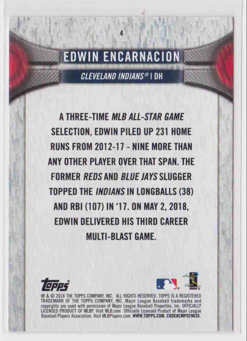 2018 Topps National Baseball Card Day Edwin Encarnacion #4 card back image