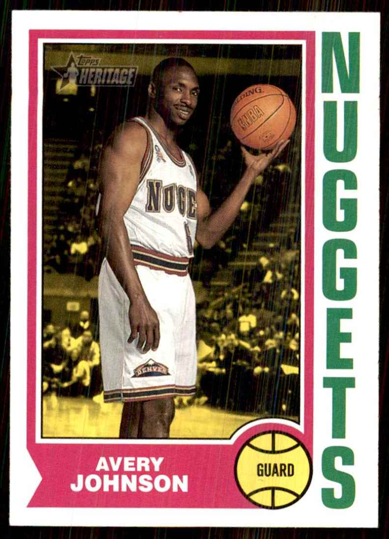 2001-02 Topps Heritage Avery Johnson #188 card front image