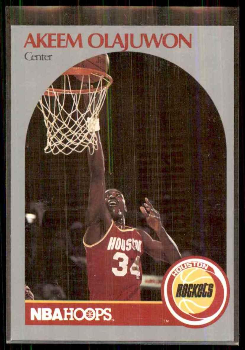 1990-91 Hoops Hakeem Olajuwon #127 card front image