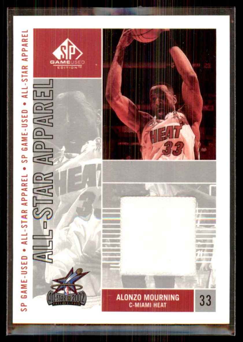 2002-03 SP Game Used All-Star Apparel Alonzo Mourning #AMAS card front image