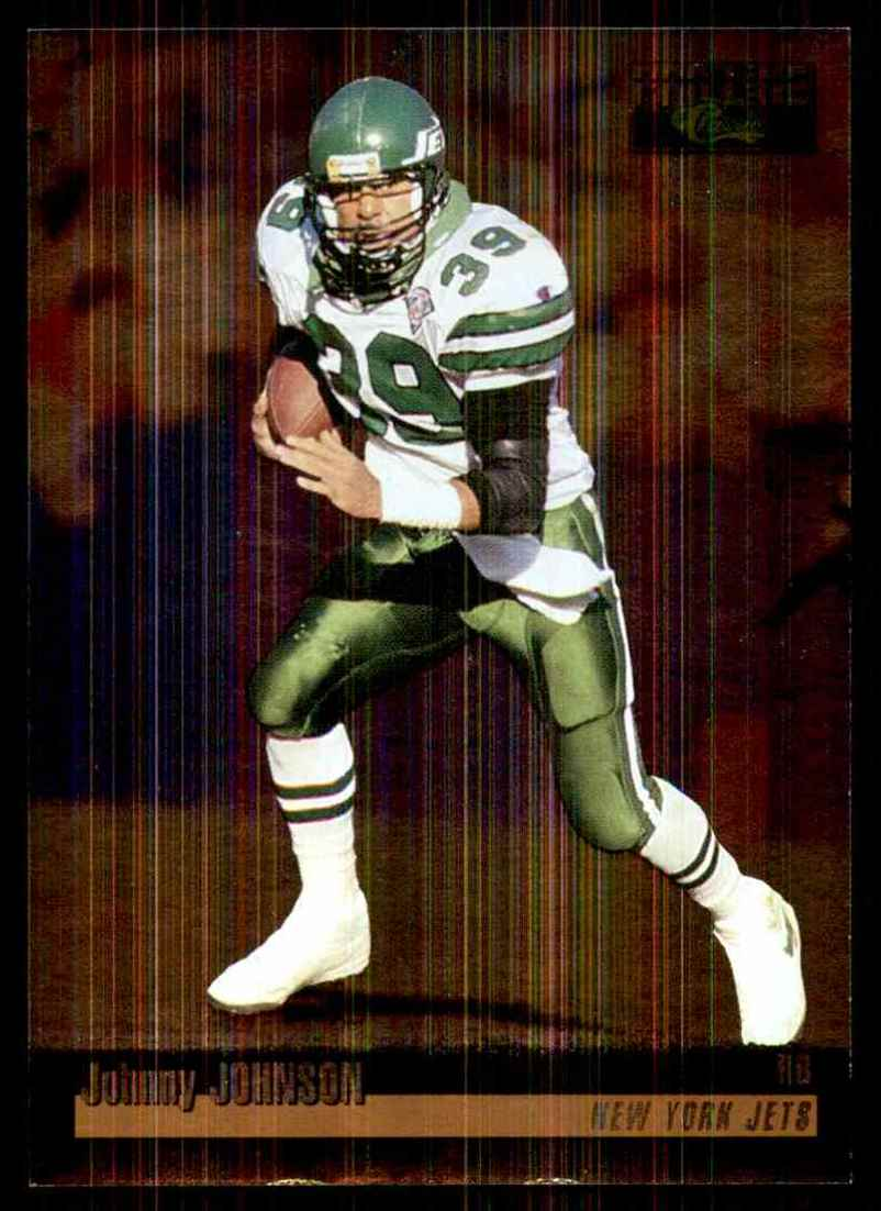 1995 Pro Line Silver Johnny Johnson #108 card front image