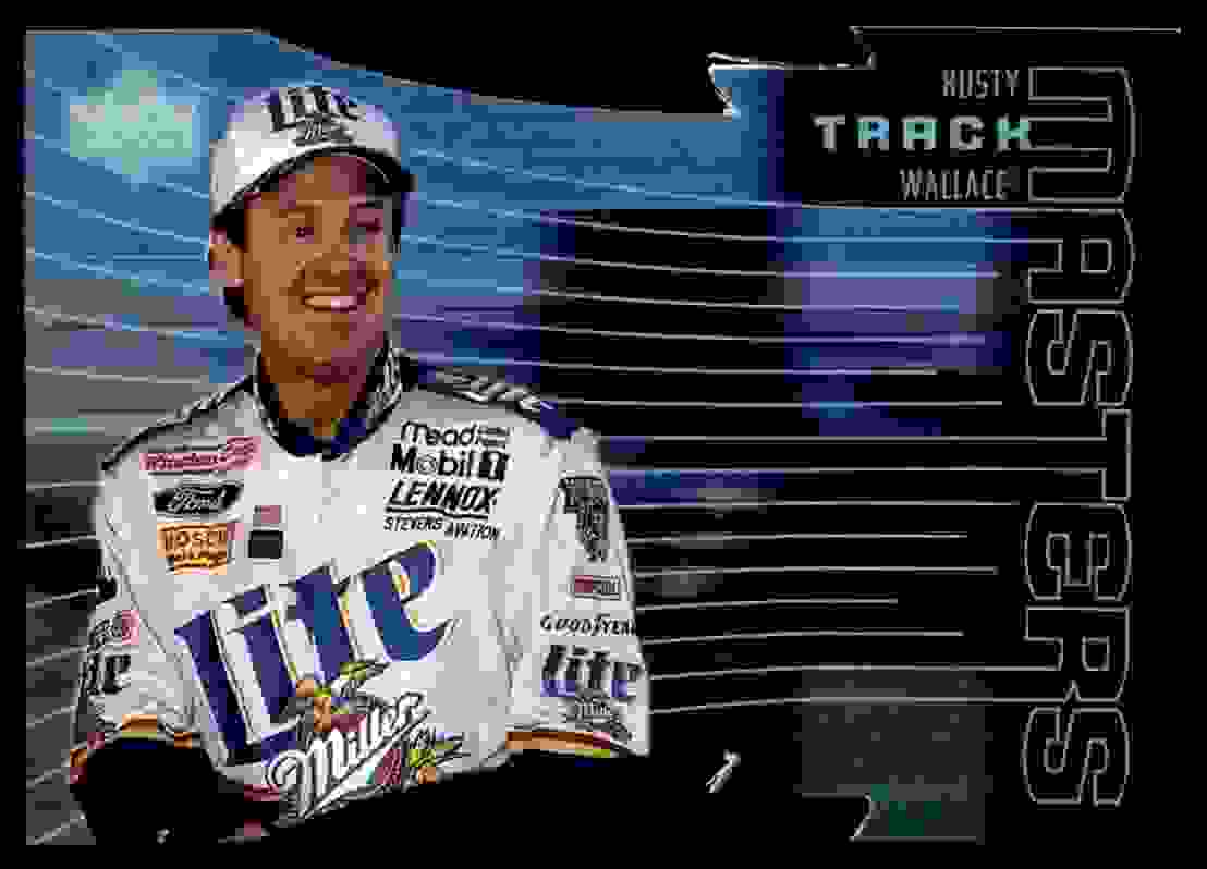 1999 Upper Deck Victory Circle Track Masters Rusty Wallace #TM5 card front image