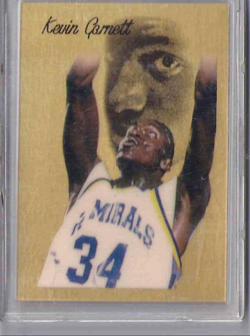 1995-96 Pro Draft '95 1 Gram Fine Gold 999.9 Kevin Garnett #NNO card front image